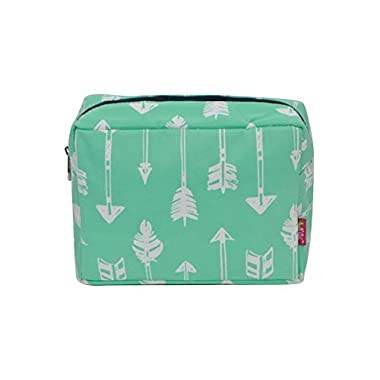 N. Gil Large Travel Cosmetic Pouch Bag 2 (Arrow Mint Green)