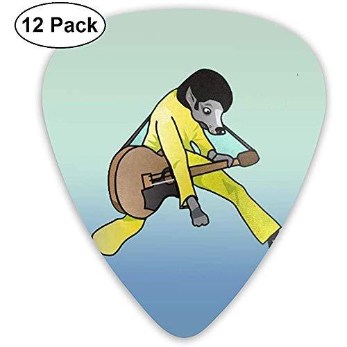 Púas de guitarra clásicas para disfraz de perro (12 unidades) para guitarra...