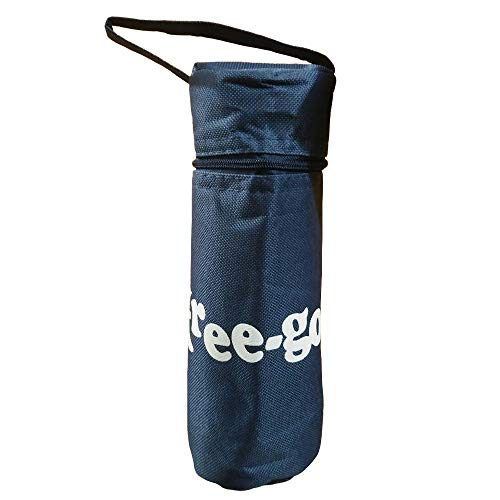 FREEGO Porta Bottiglia Termico Multifunzione da 500ml (Blu Navy)