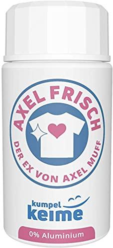 Axel Frisch Deo Puder - Das mikrobiologische Textil-Deodorant für Damen und Herren - Probiotisch und Geruchsneutral ohne Aluminium-Salze - Gegen Schweiß-Geruch
