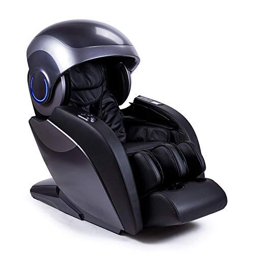 """Kronos® Limited Edition Sillón de Masaje 4D - Negro (Nuevo Modelo 2021) - 74 inyectores de presoterapia - Aromaterapia - Luminoterapia/Fototerapia- Sonido 3D Bluetooth – Gravedad y Espacio """"Cero"""""""