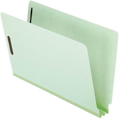 Esselte Pendaflex Gesellschaft ESSH2502F13 End Tab Folders-2in. Exp-2 Fasteners-Legal-Grün