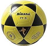 MIKASA FT5 Balón de fútbol, Unisex, Amarillo-Negro, 5
