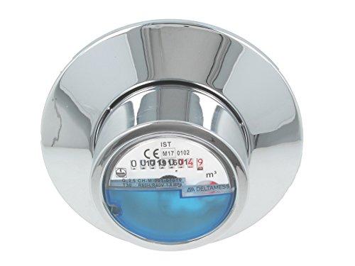 JS Kombirosette 2-teilig zu UP-Wasserzähler-Messkapseln EAS, verchromt