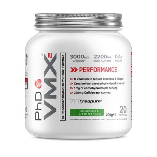 PhD Nutrition VMX2 Pre-Workout, Orange and Mango, 200 g