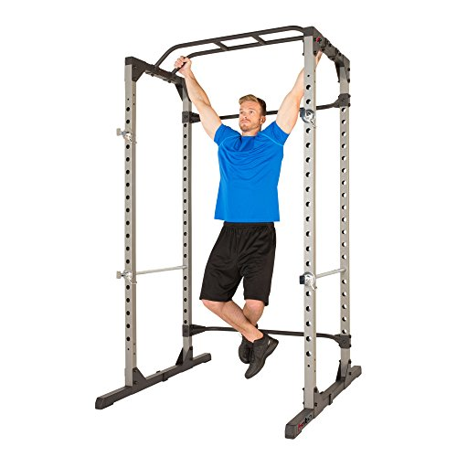Fitness Reality 810XLT Super Max Power Cage with Optional Lat Pull-down Attachment and Adjustable Leg Hold-down, Power Cage Only