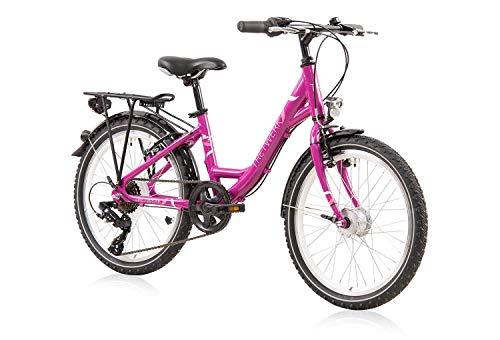 tretwerk DIREKT gute Räder Magnolia 20 Zoll Kinderrad, Mädchen-Fahrrad 6-Gang Kettenschaltung