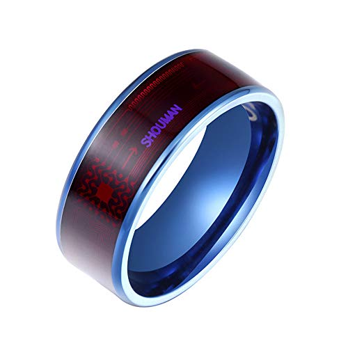 Odetina NFC oura Ring Smart Ring Wearable Technology Unisex Phone Smart Accessories Heartbeat Rings for Couples (Blue8)