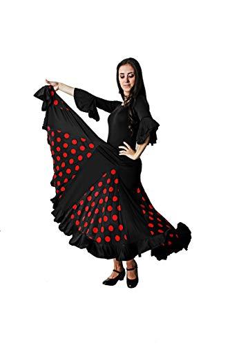 Costumizate! Flamenco Tanzrock für Damen, Erwachsene, verschiedene Größen. S rot