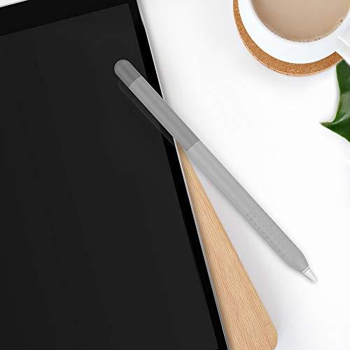 Delidigi Farbverlauf Hülle Silikon Case Schutzhülle Griff Zubehör Kompatibel mit Apple Pencil 1.Generation (Grau)