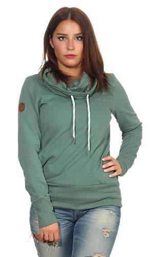 mazine Damen Sweatshirt Laverton Turtle Neck m. Stehkragen Langarmshirt Pullover Forest XL