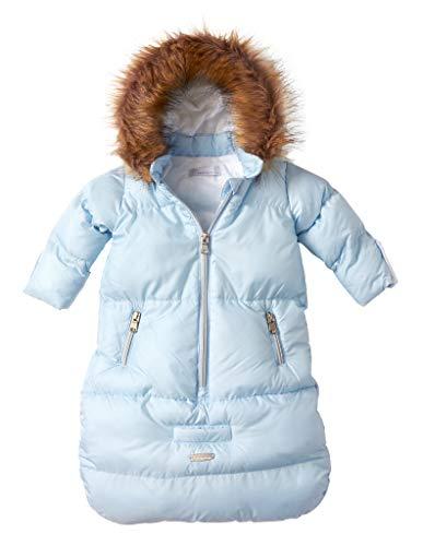 Cremson Girls Boys Newborn Infant Baby Puffer Carbag Pram Bag Snowsuit Bunting - Light Blue (Size 0/6 Months)