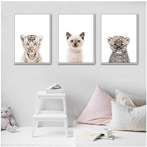 wekeke Cute Animal Giraffe Panda Poster Home Decoración de