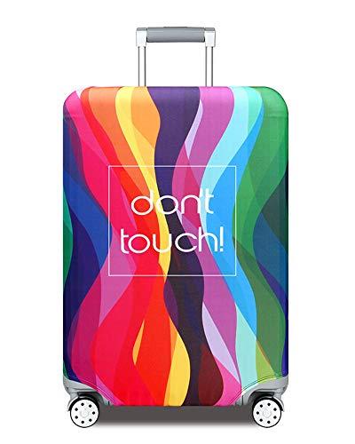 Elastique Housse de Valise Luggage Cover pour 18-32 Pouce Valise Protection De Valise Housse Bagage Voyager Protecteur Couverture,Black,S 18-21 Pouces