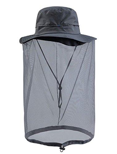 J-base 蚊を寄せ付けない帽子 フリーサイズ 釣り 磯 防波堤 (グレー)