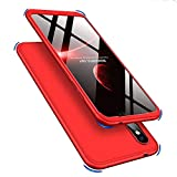 ISADENSER Compatible with Xiaomi Mi A2 Lite Case Ultra Slim 2 in 1 360°Full Body Front Back Hard PC Plastic Anti-Scratch Cover Compatible with Xiaomi Mi A2 Lite/Redmi 6 Pro,2IN1 PC - Red