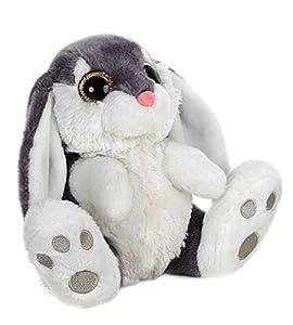 BARRADO Conejo de Peluche Sentado - Calidad Super Soft (Gris, 20cm)