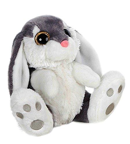 BARRADO Conejo de Peluche Sentado - Calidad Super Soft (Gris, 29cm)