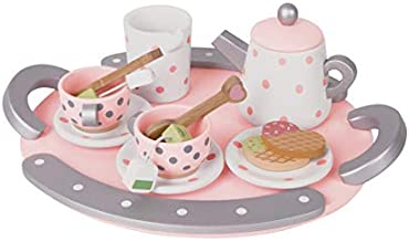 Classic World Wooden Afternoon Tea Set Toys,Pretend Play Learning Role Play for Toddlers Girls and Boys