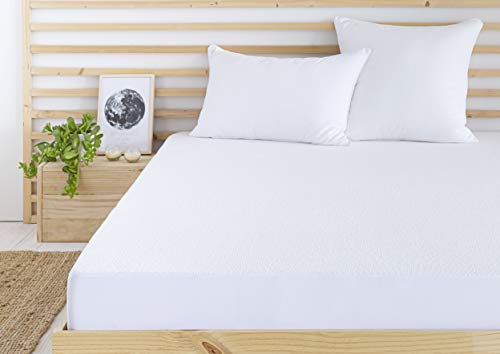 Todocama - Protector de colchón/Cubre colchón Ajustable, de Rizo, Impermeable y Transpirable. (Todas Las Medidas Disponibles). (Cama 140 x 190/200 cm)