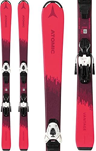 Atomic Vantage Skis w/ C5 GW Bindings Girls Sz 100cm Pink/Berry