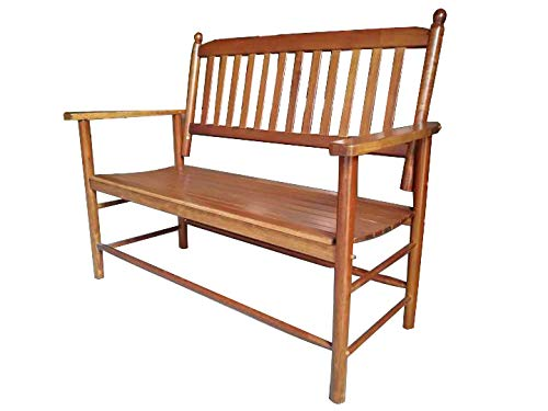 Rockingrocker - A059NT Natural Outdoor Wood Garden Bench - Suitable for Indoor or Outdoor - Assembled Dimensions:W49.21 x H40.16 x D26.97 inches