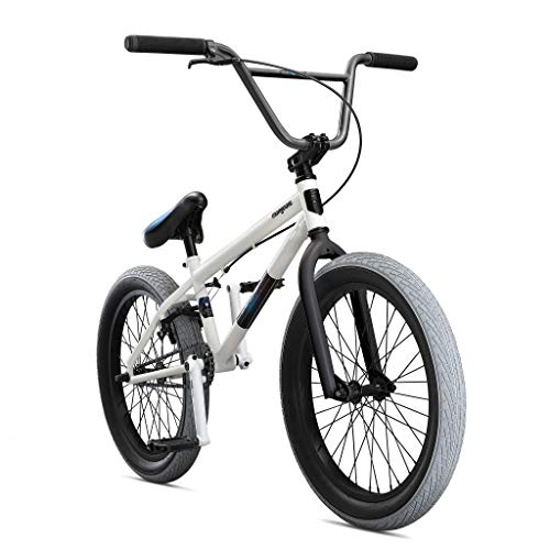 Mongoose Legion L40 Freestyle BMX Bike for Beginner-Level to Advanced Riders, Steel Frame, 20-Inch Wheels, White