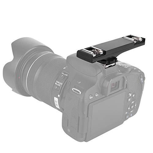 VBESTLIFE Dual Blitzschiene Einstellbar Blitzschuh Halterung Dual Flash Bracket für Speedlite-Kameras Kompatibel mit I-TTL- und SLR-Camcordern von Nikon und Canon