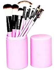 Makeup pennelli piatti Fondazione Blush Eyeliner Ombretto spazzole con il supporto della spazzola professionale di trucco Set 12 pezzi (nero)
