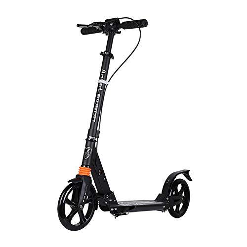 MYAOU Scooter para Adultos, Ligeros, para Acrobacias, para niños, niños, Patinete Plegable de Altura Ajustable con Freno de Mano y Freno Trasero, fácil instalación