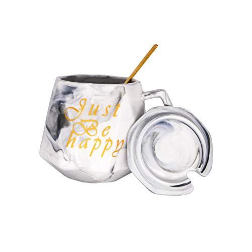 Personalizadas taza de café de mármol,tazas de café de cerámica Mr y Mrs para regalo para bodas, fiestas de cumpleaños. (Gris)