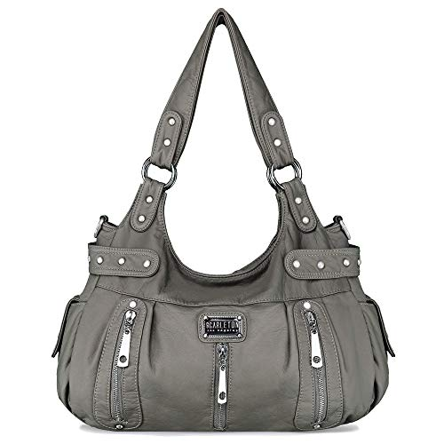 Scarleton Satchel Handbag for Women, Purses for Women, Shoulder Bags for Women, H129224 - Grey