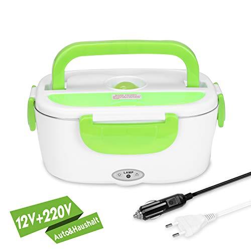 Yissvic Elektrische Lunchbox Speisenwärmer Edelstahl Warmhaltebox Tragbare 1,5L Food Box für Haushalt und Auto