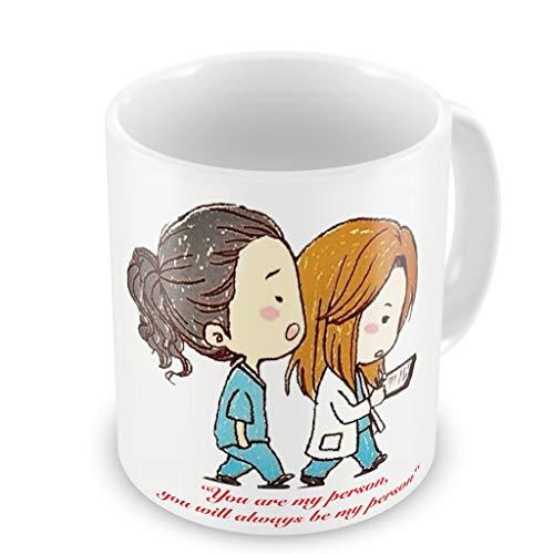 Greys Anatomy Inspired - You're My Person - Fun Tasse 313ml Kaffee Tee Becher –Perfekt Valentines/Ostern/Sommer/Weihnachten/Geburtstag/Jahrestag Geschenk