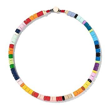 Fancy Colorful Enamel Beaded Choker Necklace for Women D