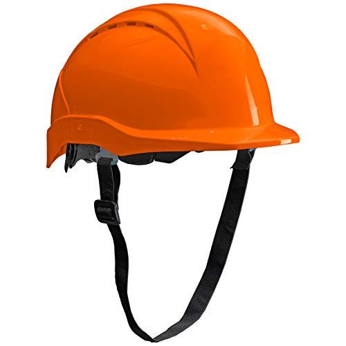 ACE Patera Casco Obra - Casco Seguridad - Casco de Trabajo con Cierre de Rosca, Ventilado y Ajustable - Naranja ✅