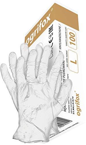 100 guanti monouso, guanti invisibili DIN420 e CE, guanti in vinile, guanti monouso e monouso