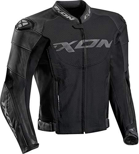IXON Motorradjacken Falcon Jkt Schwarz, Schwarz, XL