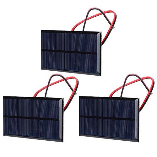 Panel solar de silicio con buen efecto de luz débil Panel solar a prueba de nieve DC 6V 1W 0.8 pulgadas de espesor para luces solares del paisaje Módulo de energía de la celda