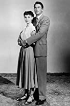 Gregory Peck and Audrey Hepburn in Roman Holiday full length pose together 24x36 Poster