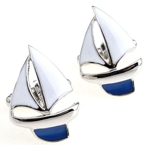 Gudeke Segelschiff Blau Manschettenknöpfe