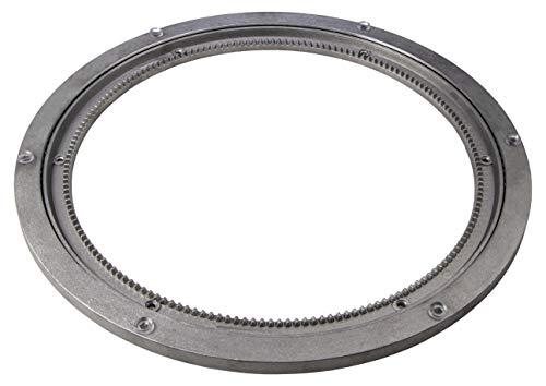 Gedotec Schwerlast-Drehbeschlag 360° Drehscheibe drehbar Ø 320 mm | Drehteller Stahl silber | Druckkugellager Tragkraft 300 kg | Dreh-Ring zum Schrauben für Möbel - TV uvm. | 1 Stück - Drehkranz Küche