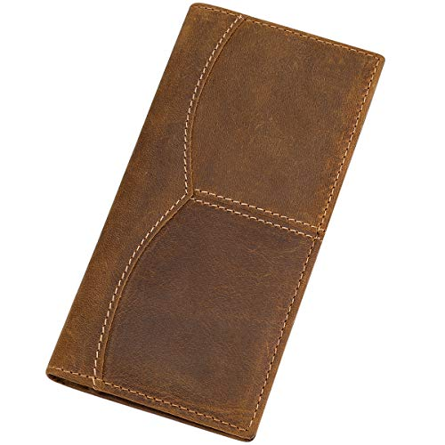 Our #3 Pick is the Itslife Men's RFID Blocking Vintage Look Genuine Leather Checkbook Wallet