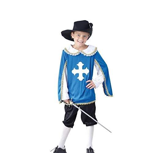 P'TIT CLOWN 87466 Déguisement Enfant Mousquetaire - M - Bleu