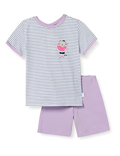 Schiesser Mädchen Cat Zoe Schlafanzug kurz Pyjamaset, Mint, 92