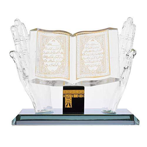 Hztyyier 4.09inch Muslim Kristall Sammlerfiguren für Home Desktop Decor Islamische Gebäude Handwerk Souvenirs Auto Decor