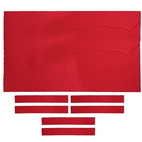 SM SunniMix 9ft Billardtisch Abdeckung Tuch (Maße 280 x 153 cm) Pool Billiard Billiardtuch - rot