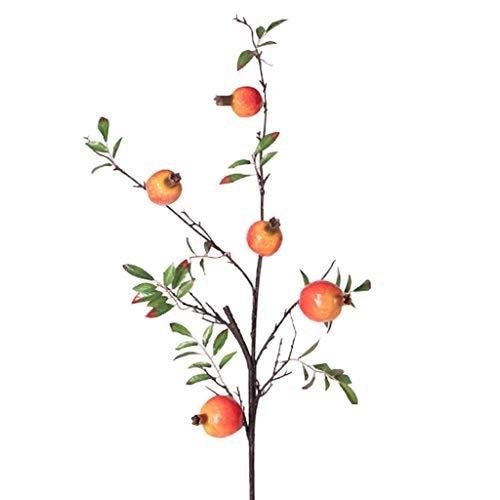 GCX Natural Falsa Flor de la decoración de Flores de la decoración de la simulación de la Granada Rama de Flores secas Ramo Calentar