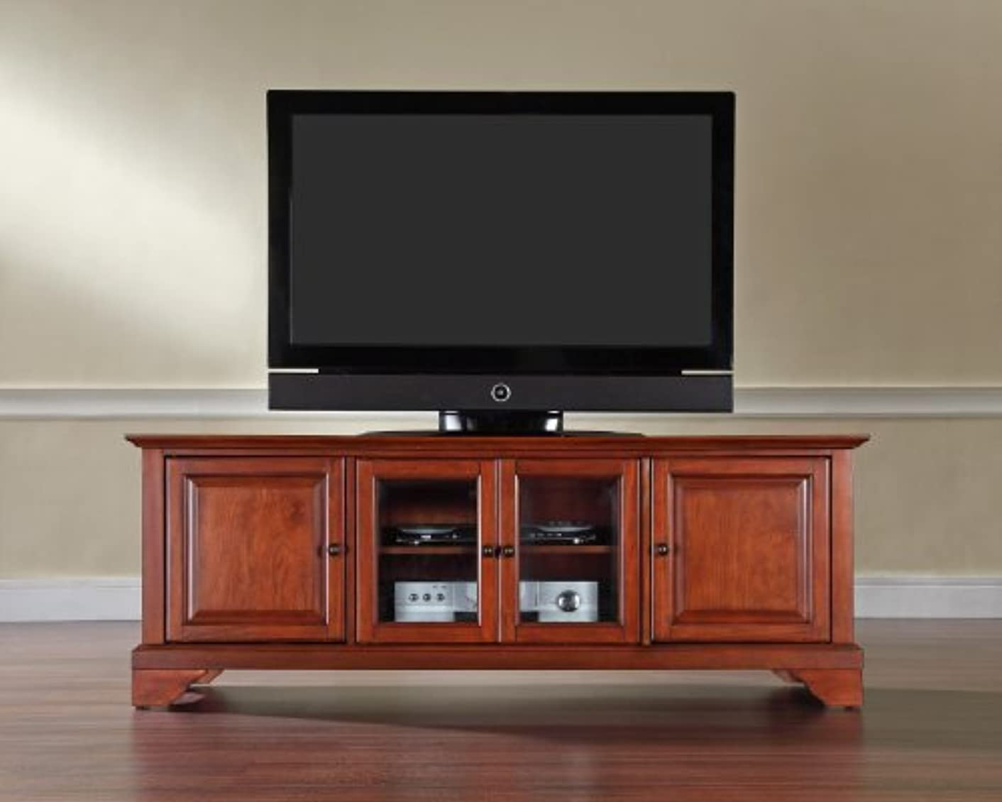 ウイルス現実アラブサラボCrosley Furniture LaFayette 60-inch Low-Profile TV Stand - Classic Cherry [並行輸入品]
