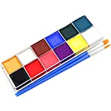 Face Paint Sets for Kids & Adults,Non-Toxic & Safe 12 Vibrant Colors Body Painting Kits - Video Tutorials & eBook - Fun,...
